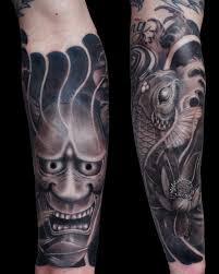 hannya mask tattoo black and grey 62 japanese hannya mask tattoos