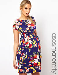 asos maternity skater dress in floral print maternity clothes