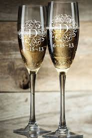 personalized glasses wedding best 25 personalized chagne flutes ideas on