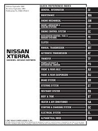 2002 xterra service manual pdf