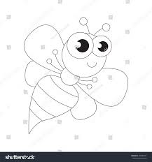 wasp be colored coloring book educate stock vector 438087061