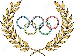 olympic rings images Olympic rings logo with laurel stock photo picture and royalty jpg
