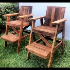 Adirondack Deck Chair Outdoor Wood Plans Download by Reclaimed Cedar Lifeguard Chairs Wood Working Pinterest