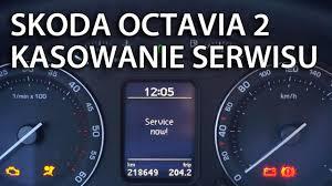 kasowanie inspekcji serwisowej skoda octavia ii reset service now