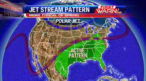 Gulf Stream Map First Warn Weather Team Split Jet Stream Keeps Active Weather