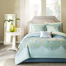 madison park essentials carly auqa complete comforter and cotton sheet set