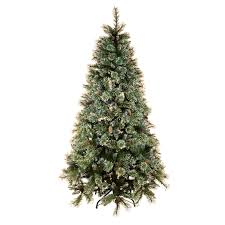 trees with snow 6ft luxury green artificial