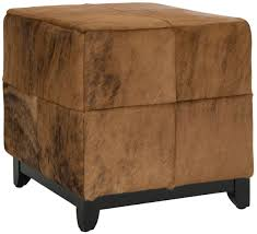 Cowhide Upholstery Mcr6004c Ottomans Furniture By Safavieh