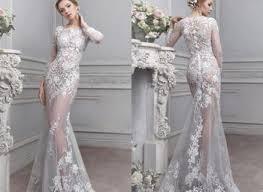 scalloped v neck half sleeve vintage a line lace wedding dress