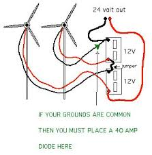series parallel wiring for battery charging do you have low wind