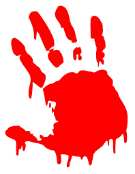 amazon com bloody zombie hand print right hand 5 5 amazon com bloody zombie hand print right hand 5 5