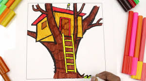 coloring treehouse learn types of houses for kids coloring pages