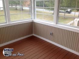 screened porch with eze breeze panels vinyl bead board knee wall