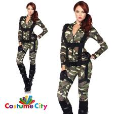 womens pretty paratrooper army military fancy dress