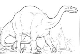 dinosaurs with strong body coloring pages for kids b55