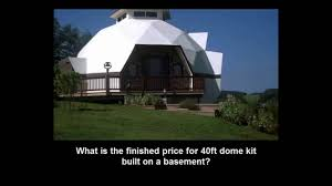 Dome Home by What U0027s Is The Finished Price Of An Ai 40ft Cement Dome Home Youtube