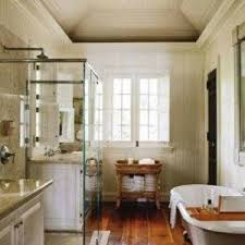 Country Bathroom Designs Country Bathroom Ideas With Striped Wallpaper And Console Sink And