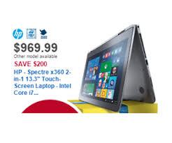 best 2in1 laptop black friday deals 969 99 hp spectre x360 2 in 1 13 3 inch touch screen laptop intel