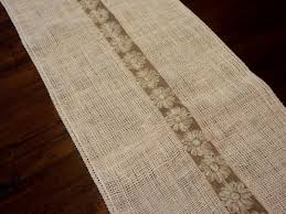 sewing our sanity burlap table runner