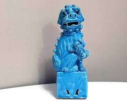 yellow foo dogs13th birthday ideas blue foo dog foo dog painting blue and white