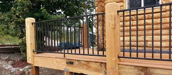 image result for deck metal railing cabin deck railings