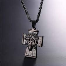 necklace for stainless steel jesus cross necklace for men christiandealz