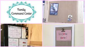 how to create a family command center youtube