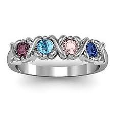 family rings for birthstone custom family ring 5 stones simple style