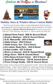 Old Fashioned Christmas Window Decorations by Vote For Your Favorite Downtown Antioch Window Decorations Win