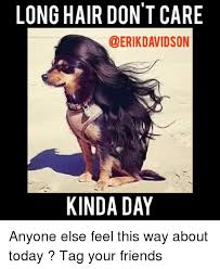 Long Hair Dont Care Meme - long hair don t care kinda day anyone else feel this way about today
