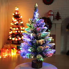 christmas tree artificial mini christmas tree artificial flocking snow christmas tree led