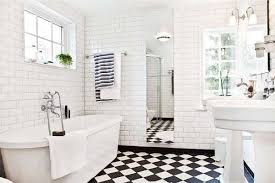 bathroom ideas black and white 31 retro black white bathroom floor tile ideas and pictures