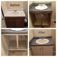 bathroom renovation on a mega budget i used rustoleum countertop