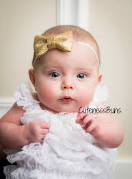 baby girl headbands and bows baby girl headband gold headband newborn headband baby