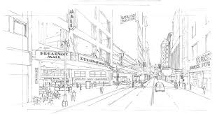 the sassony building 722 s broadway street sketches