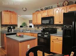 kitchen backsplash ideas with oak cabinets mini makeover crown molding on my kitchen cabinets kitchen
