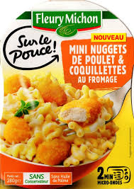 plat cuisiné fleury michon mini nuggets de poulet coquillettes au fromage jpg