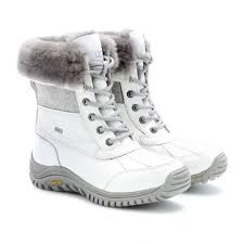 ugg s adirondack ii boots black ugg adirondack tweed shearlinglined leather boots in white lyst