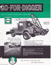 jeep willys custom go for digger trencher 1953 willys trencher