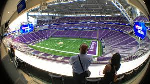 map us bank stadium u s bank stadium a 360 degree view from the field