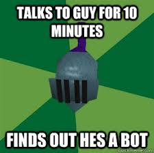Meme Bot - talks to guy for 10 minutes finds out hes a bot runescape