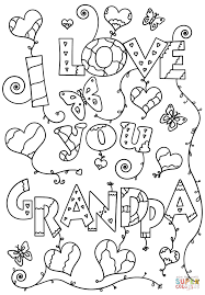 i love you grandpa coloring page free printable coloring pages