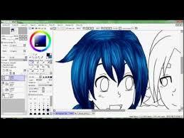 paint tool sai hair coloring tutorial youtube