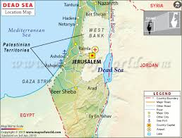sea of map dead sea travel information map location facts best to visit