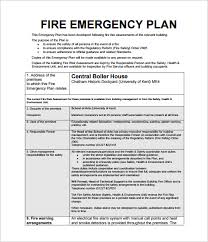 safety manual template fire emergency action plan sample download
