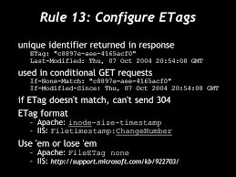 apache etag high performance web 14 for faster pages ppt