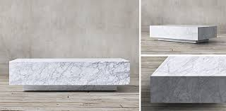 restoration hardware marble table marble plinth collection white marble rh