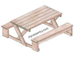 Free Wood Picnic Bench Plans by Free Picnic Table Plans