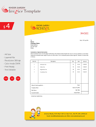 enticing kindergarten invoice template invoice template
