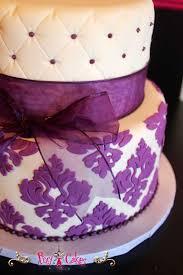birthday cake wedding cake fondant onlays 2 tier purple